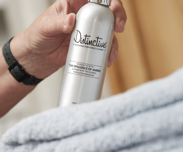 Enjoy extra fragrance on towels or in the bathroom with Distinctive.