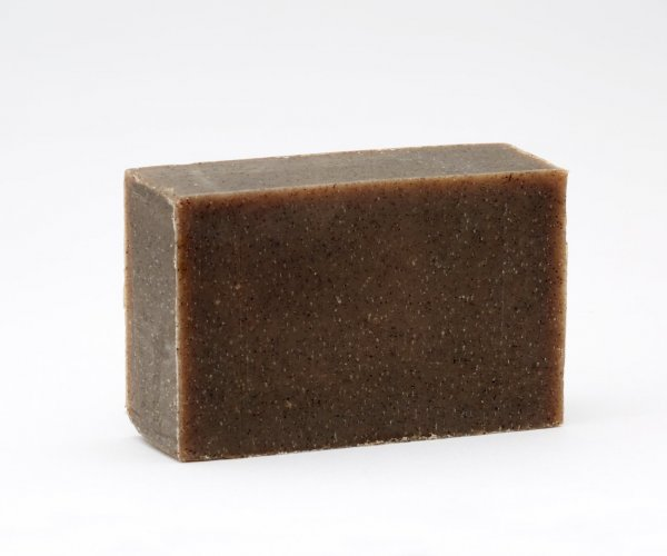 Dark bar of handmade soap